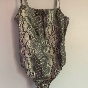 Snake print body suit